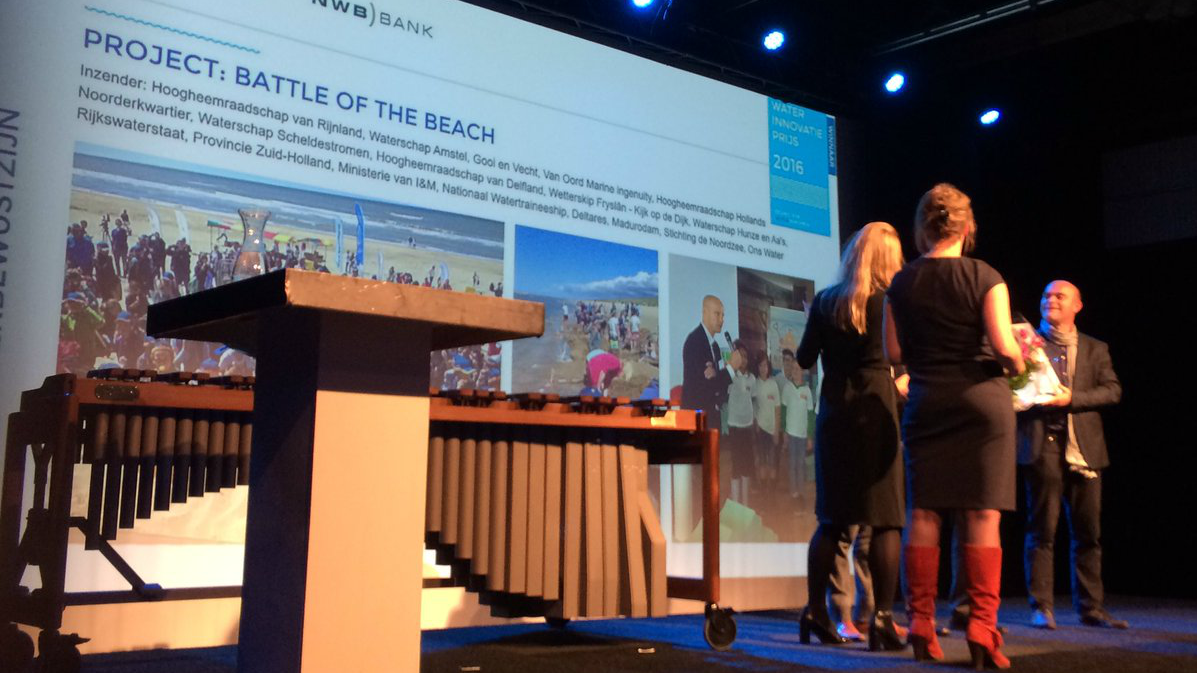 Battle of the Beach Waterinnovatieprijs - foto UvW